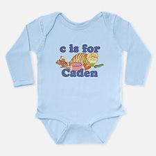 C is for Caden Long Sleeve Infant Bodysuit