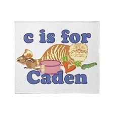 C is for Caden Throw Blanket