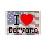 I Love Cervone Rectangle Magnet (100 pack)