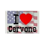I Love Cervone Rectangle Magnet