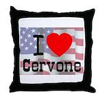 I Love Cervone Throw Pillow