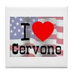 I Love Cervone Tile Coaster
