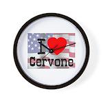 I Love Cervone Wall Clock