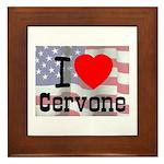 I Love Cervone Framed Tile
