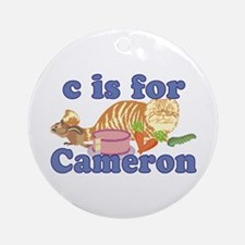 C is for Cameron Ornament (Round)