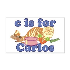 C is for Carlos 22x14 Wall Peel