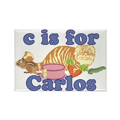 C is for Carlos Rectangle Magnet (100 pack)