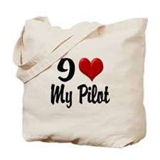 Heart My Pilot Home/Office Tote Bag