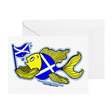 Scottish Flag Fish Greeting Card