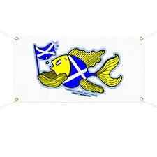 Scottish Flag Fish Banner