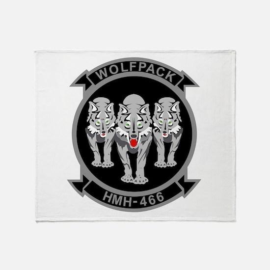 HMH-466 Wolfpack Throw Blanket
