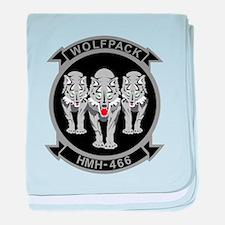 HMH-466 Wolfpack baby blanket