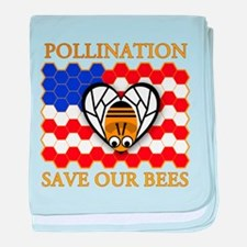 PolliNATION Save our Bees baby blanket