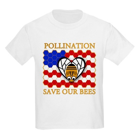 pollination save our bees kids light t shirt pollination