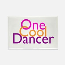 One Cool Dancer Rectangle Magnet