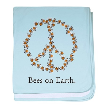 Bees on Earth (Peace) baby blanket