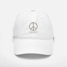 Bees on Earth (Peace) Baseball Baseball Cap