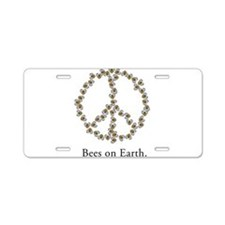 Bees on Earth (Peace) Aluminum License Plate