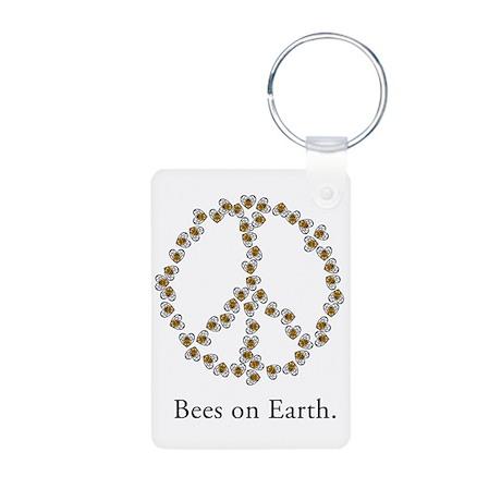 Bees on Earth (Peace) Aluminum Photo Keychain