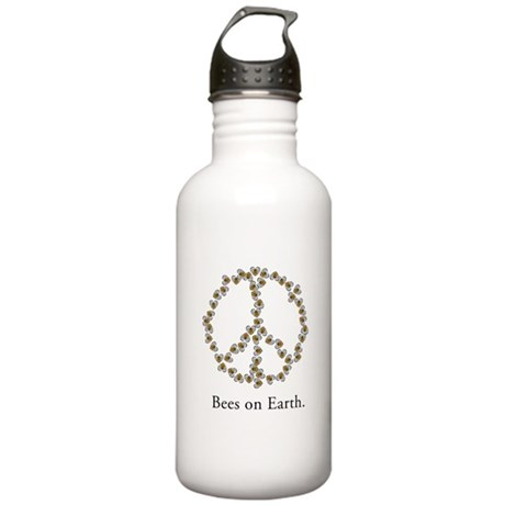 Bees on Earth (Peace) Stainless Water Bottle 1.0L