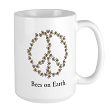 Bees on Earth (Peace) Mug