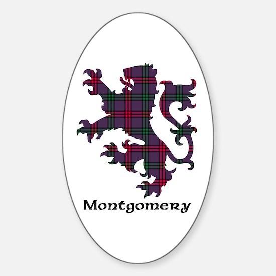 Lion - Montgomery Sticker (Oval)