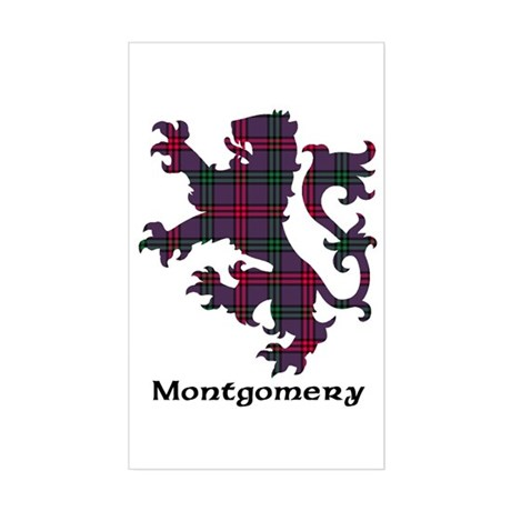 Lion - Montgomery Sticker (Rectangle)