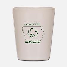 Luck O the Iowarish Shot Glass