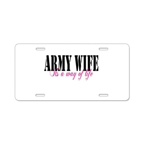Army Way Home/Office Aluminum License Plate
