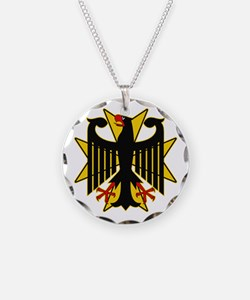German Eagle Yellow Maltese Cross Necklace Circle