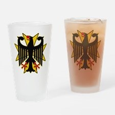 German Eagle Yellow Maltese Cross Drinking Glass