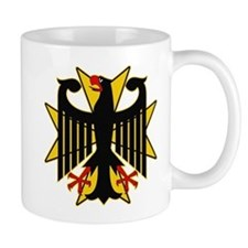 German Eagle Yellow Maltese Cross Mug