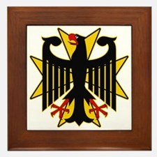 German Eagle Yellow Maltese Cross Framed Tile