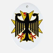 German Eagle Yellow Maltese Cross Ornament (Oval)