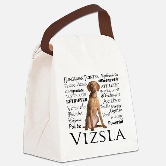 Vizsla Traits Canvas Lunch Bag