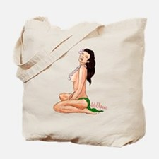 Hula Girl Pin-Up Alohi Tote Bag