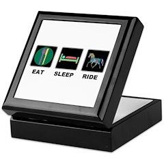 Eat Sleep Ride Horse Keepsake Box