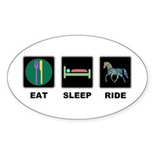 Eat Sleep Ride Horse Decal