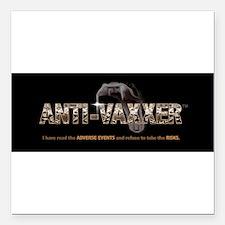 """Anti-Vaxxer™ Rattlesnake Square Car Magnet 3"""" x 3"""""""