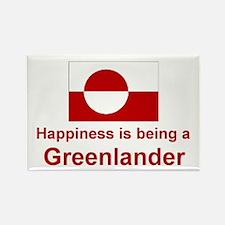 Happy Greenlander Rectangle Magnet