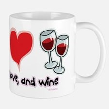 Peace, Love, and Wine Mug
