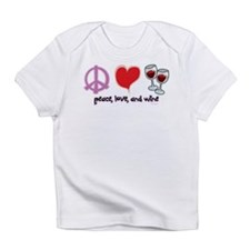 Peace, Love, and Wine Infant T-Shirt