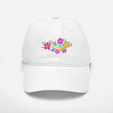Tropical Flowers Baseball Baseball Cap
