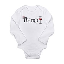 My (Wine) Therapy Long Sleeve Infant Bodysuit