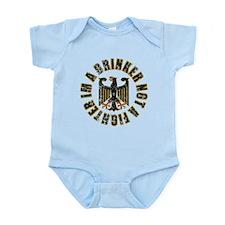 German Im a Drinker not a Fig Infant Bodysuit