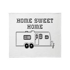 Home Sweet Home Travel Trailer Throw Blanket