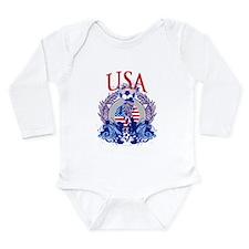 USA Women's Soccer Long Sleeve Infant Bodysuit