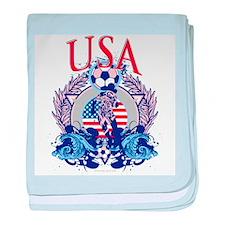 USA Women's Soccer baby blanket