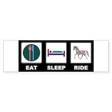 Eat Sleep Ride Horse Bumper Sticker