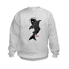 Large Black Koi Sweatshirt